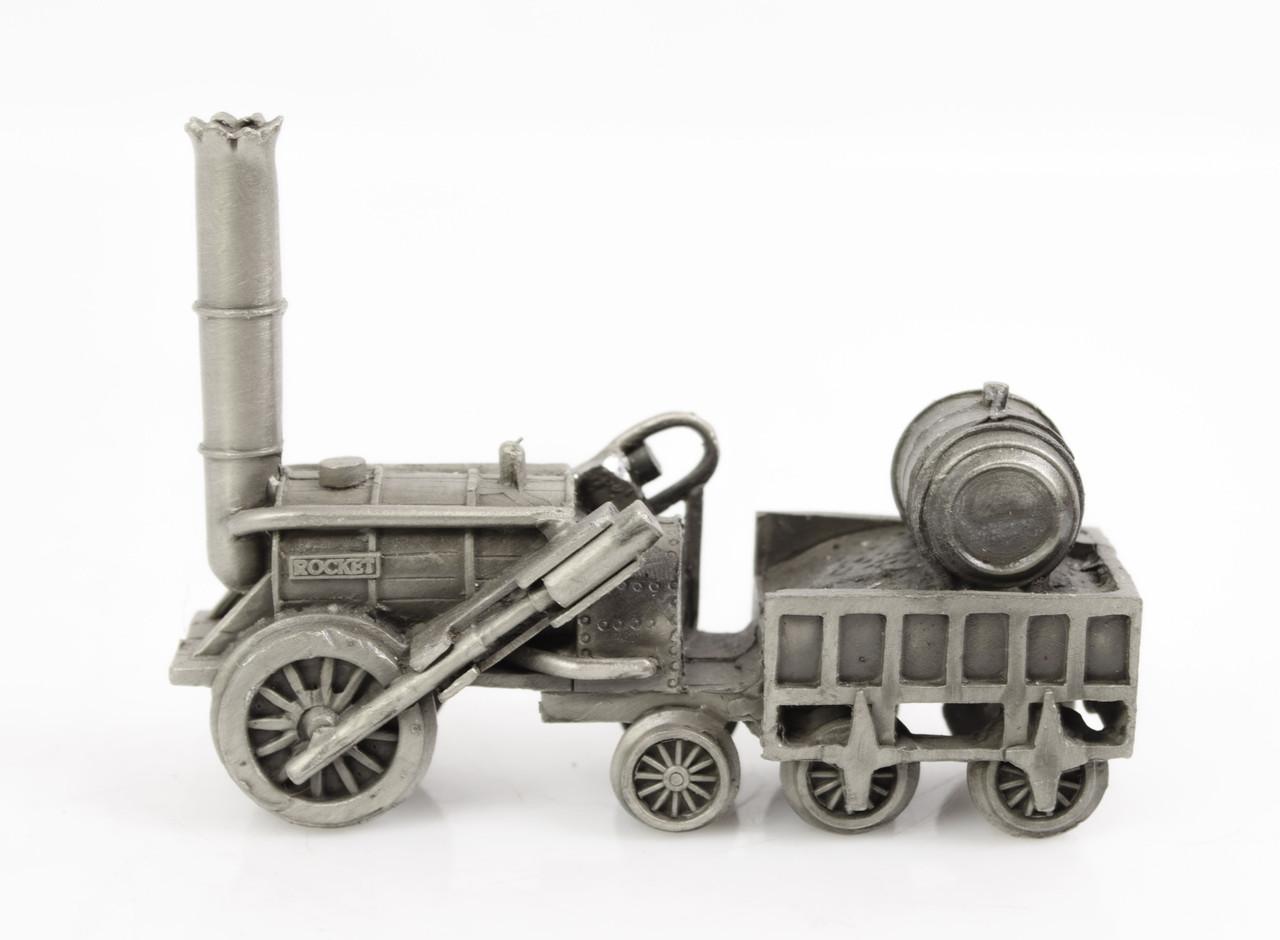 Скульптура, паровоз ROCKET, олово, Германия