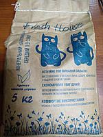 Минеральный наполнитель Фреш Хаус Fresh House Средний (синий) 0,9-3,8мм, 5 кг
