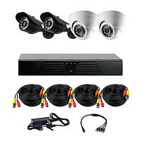 Комплект AHD видеонаблюдения на 4 камеры (2+2) CoVi Security AHD-22WD KIT