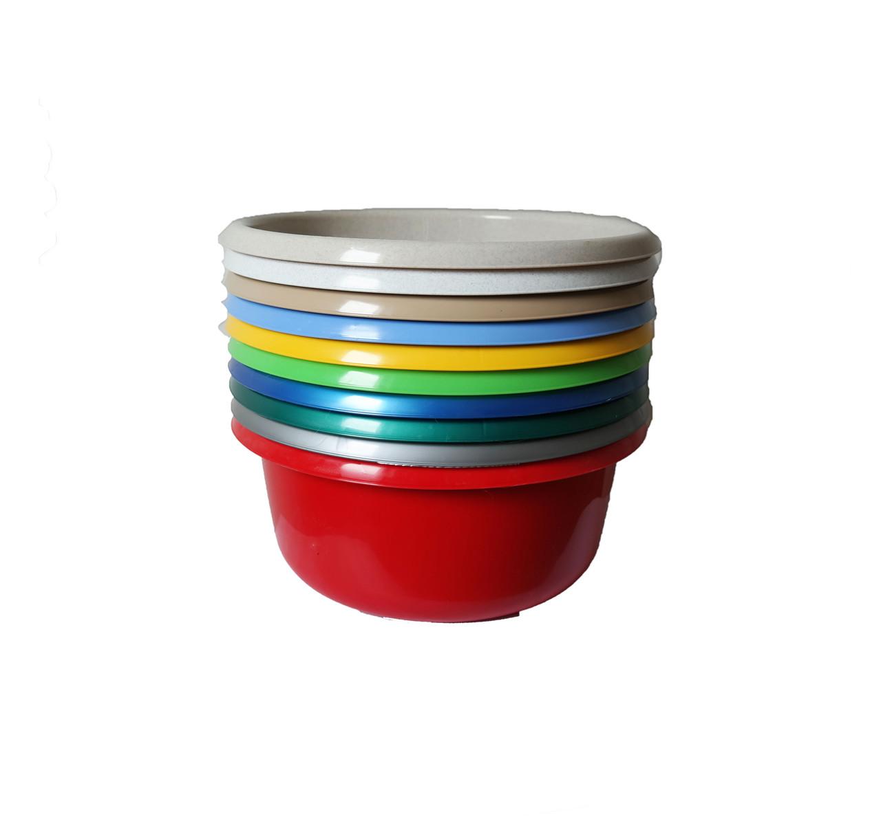 Миска пластиковая цветная, 5л, ММ