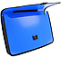 "Портфель на застежке, фактура ""Вишиванка"", синий, фото 2"