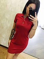 Модне літнє трикотажне турецьке плаття, червоний. FL 1099