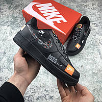 ✔️ Кроссовки Nike Air Force 1 Low Just Do It Pack Black - Найк Аир Форс