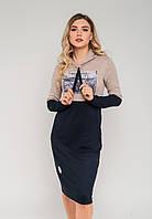 Спортивне плаття з капюшоном з трикотажу Modniy Oazis бордовий 90270/2