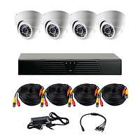 Комплект AHD видеонаблюдения на 4 внутренние камеры CoVi Security AHD-4D KIT
