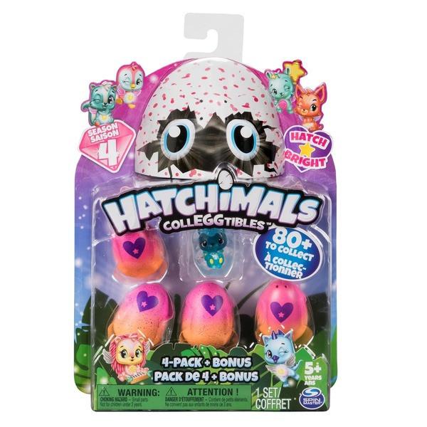 Игровой набор Hatchimals четыре фигурки в яйцах + бонусная фигурка (SM19104/6043960)