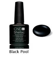 Гель-лак Shellac Black Pool	7,3 ml 518 (черный, эмаль)