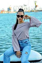 """Стильная женская блуза """"Гаванна"""" с люрексом и расклешенными рукавами (3 цвета), фото 2"""