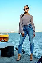 """Стильная женская блуза """"Гаванна"""" с люрексом и расклешенными рукавами (3 цвета), фото 3"""