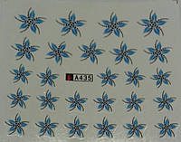 Слайдер-дизайн для ногтей  А-435