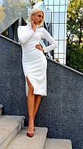 """Облегающее трикотажное платье-гольф """"Аvrora"""" с разрезом и длинным рукавом (3 цвета), фото 3"""