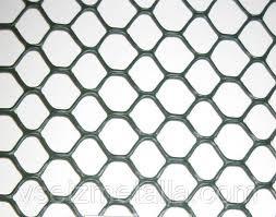 Ограждение декоративное ЭКСАГОН яч. 19*20мм, (1м*30м) серебро