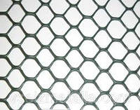 Ограждение декоративное ЭКСАГОН яч. 19*18мм, (1м*30м) серебро