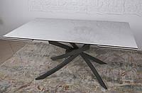 Стол обеденный LINCOLN (Линкольн) 160/240 см керамика белый глянец Nicolas