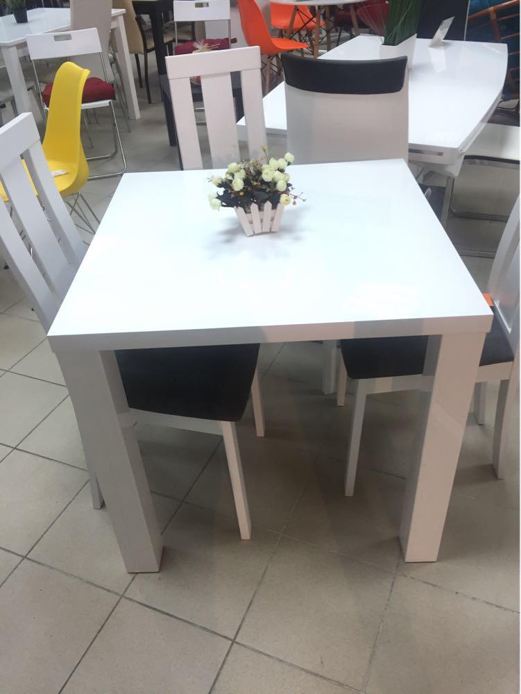 """Кухонний стіл """"Montego"""" (білий глянець) 80*60см"""