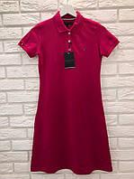 Модне літнє трикотажне турецьке плаття, малина. FL 1101