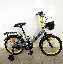 """Детский велосипед 16"""". Мягкое сидение, ручной тормоз Corso G-16250"""