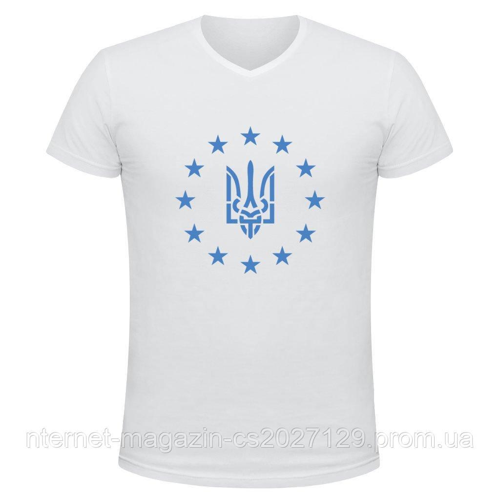 Футболка мужская принт Украина-Евросоюз