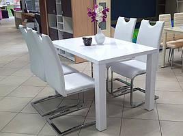 """Кухонний стіл """"Montego"""" (білий глянець) 120*80см"""