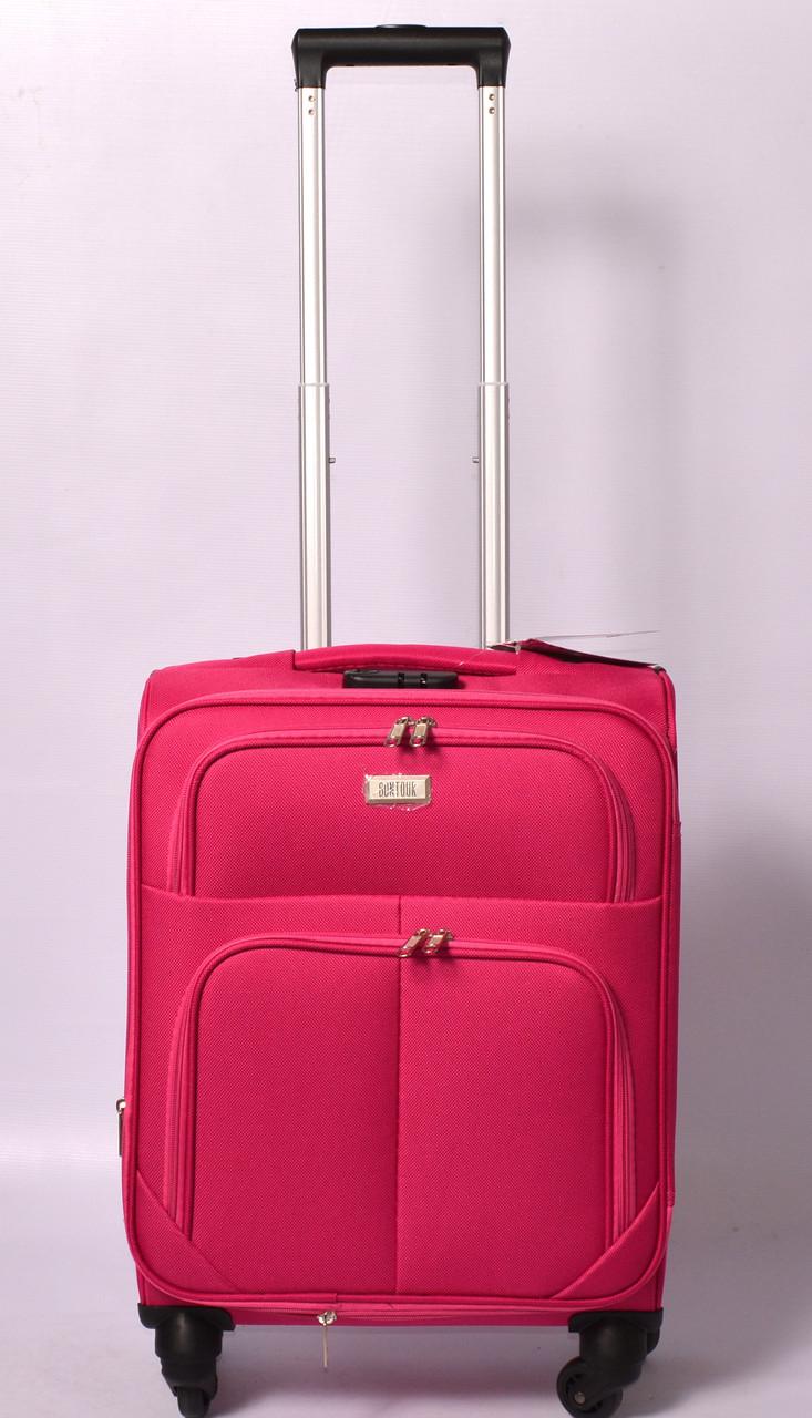 Тканевый дорожный чемодан BONTOUR на 4 - х колёсах  ,большой