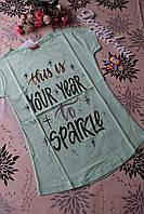 Стильная детская летняя футболка для девочек 13, 14, 15, 16 лет.Турция!Детская летняя одежда!
