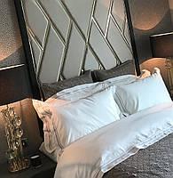 М'які стінові панелі з металевими вставками, м'які панелі з профілем, панелі тканини на замовлення Одесі