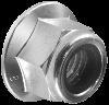 Гайка М12 самостоп. шест. метр. с буртиком, сталь/тефлон. вставка, кл. пр. 8, ЦБ (DIN 6926)