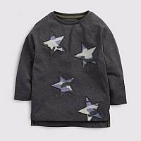 Кофта детская стильная хлопковая для мальчика 92-122см Звезды