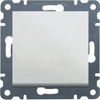 Выключатель проходной 1-клавишный (белый) Hager Lumina-2 (универсальный)