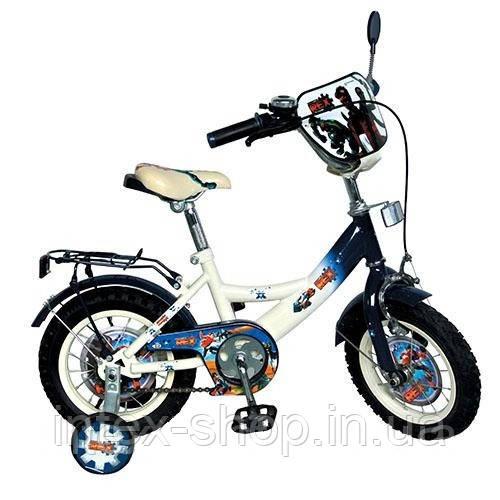 """Двухколесный детский велосипед 12"""" GR 0001 Generator Rex (черный с белым)"""