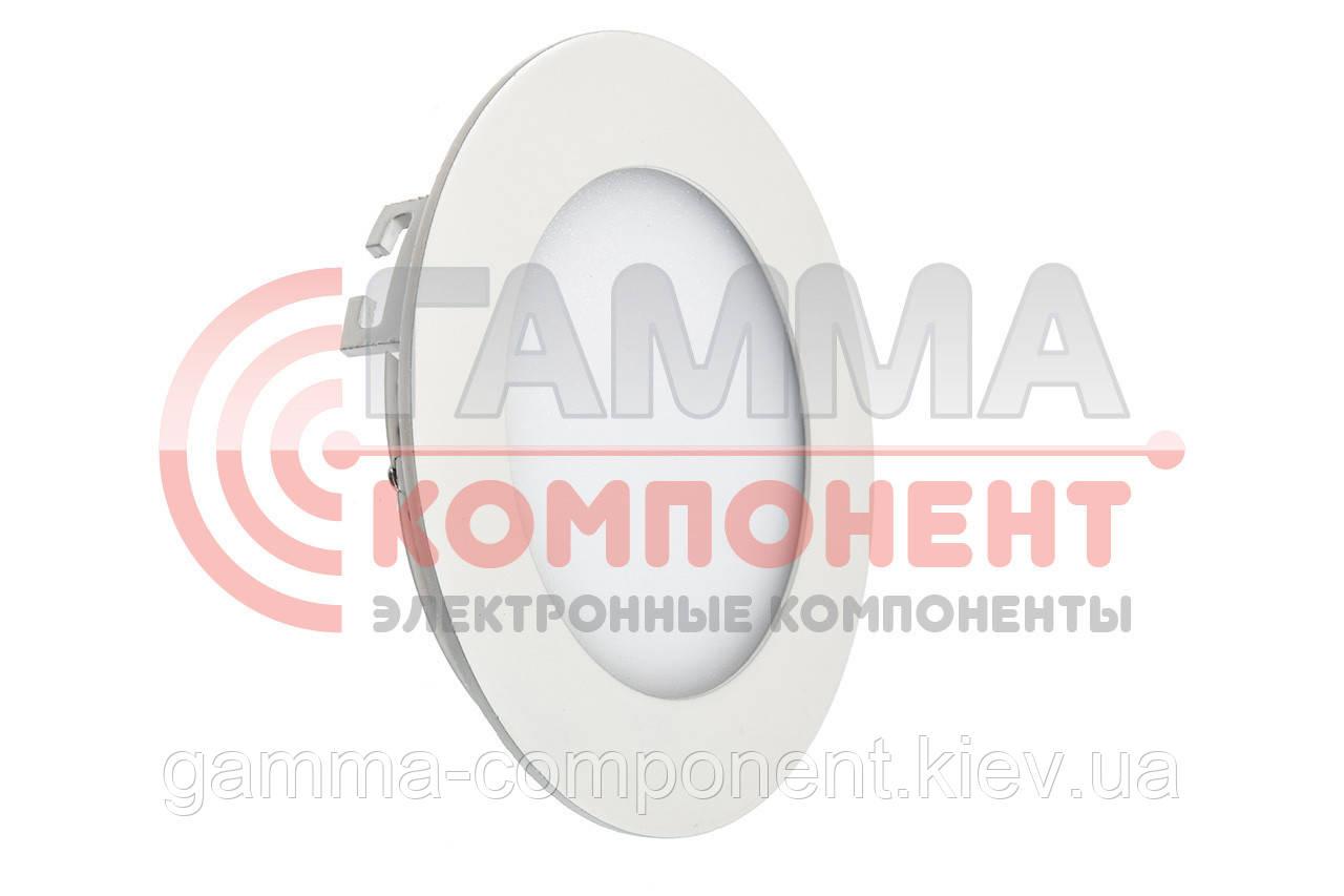 Светодиодный светильник точечный 6Вт, круглый, холодный белый, IP20