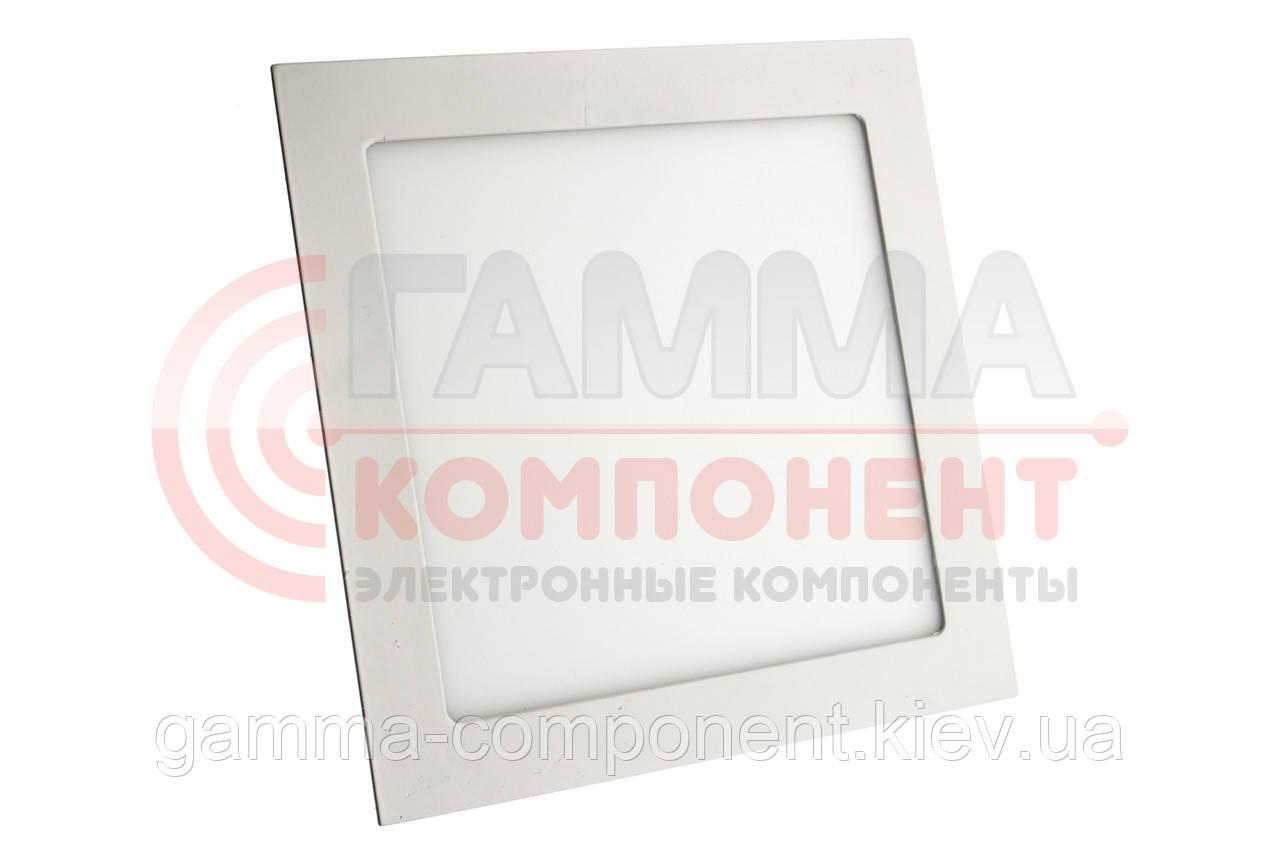 Светодиодный светильник точечный 18Вт, квадрат, теплый белый, IP20
