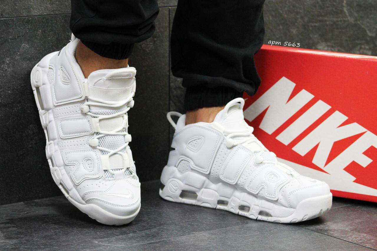 a3096425 Кроссовки мужские белые Nike Air More Uptempo 96 5663 (найк чоловічі кроси  кросівки обувь мужская