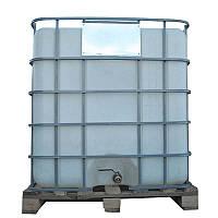 Емкость 117 х 126 х 104 см, 1000 л квадратная в решетке с металлическим краном