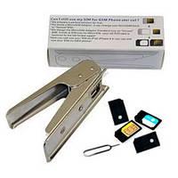Резак обрезатель cutter микро СИМ SIM карт переходник MICROSIM шпилька скрепка скоба adapter for iPad 3G/iPhon