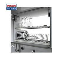 Сушка для посуды 800 мм, с рамой и пласт. поддоном, (нержавейка) (716 KIT80 XC) - Inoxa (Италия)