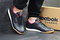 f49f5e33 Кроссовки мужские темно синие с белым Reebok 4614 (чоловічі кросовки  спортивне обувь спортивная)