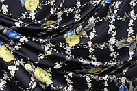 Ткань шелк армани из коллекции ультра черный №322, фото 1