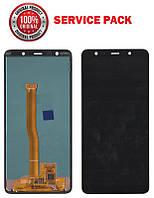 Дисплей + сенсор Samsung A750 2018 Черный Оригинал 100% SERVICE PACK GH96-12078A