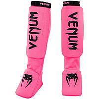 Защита голени и голеностопа Venum Kontact Fluo Pink OFSA, фото 1