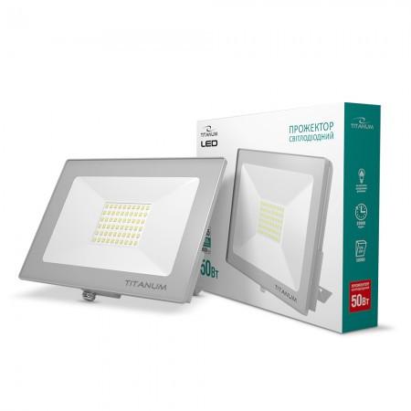 LED прожектор TITANUM 50W 6000K TLF506 220V 20шт/ящ