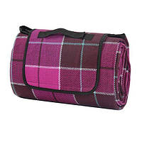 Водонепроницаемый коврик для Пикника Клетка (Purple)