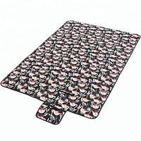 Водонепроницаемый коврик для пикника Фламинго (Black)