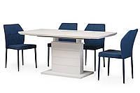 Раздвижной стол TMM-50-1 Vetro Mebel 120/160, матовый белый