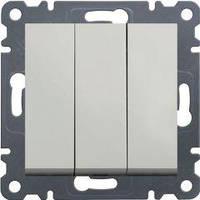Выключатель 3-клавишный (белый) Hager Lumina-2