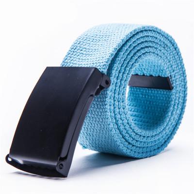 Ремень текстильный голубой