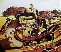 Большая интерьерная картина маслом Живопись Сальвадора Дали Декор в офис кафе гостиную кухню спальню пиццерию
