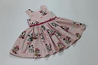 Платье на девочку с Минни Маус на розовом фоне