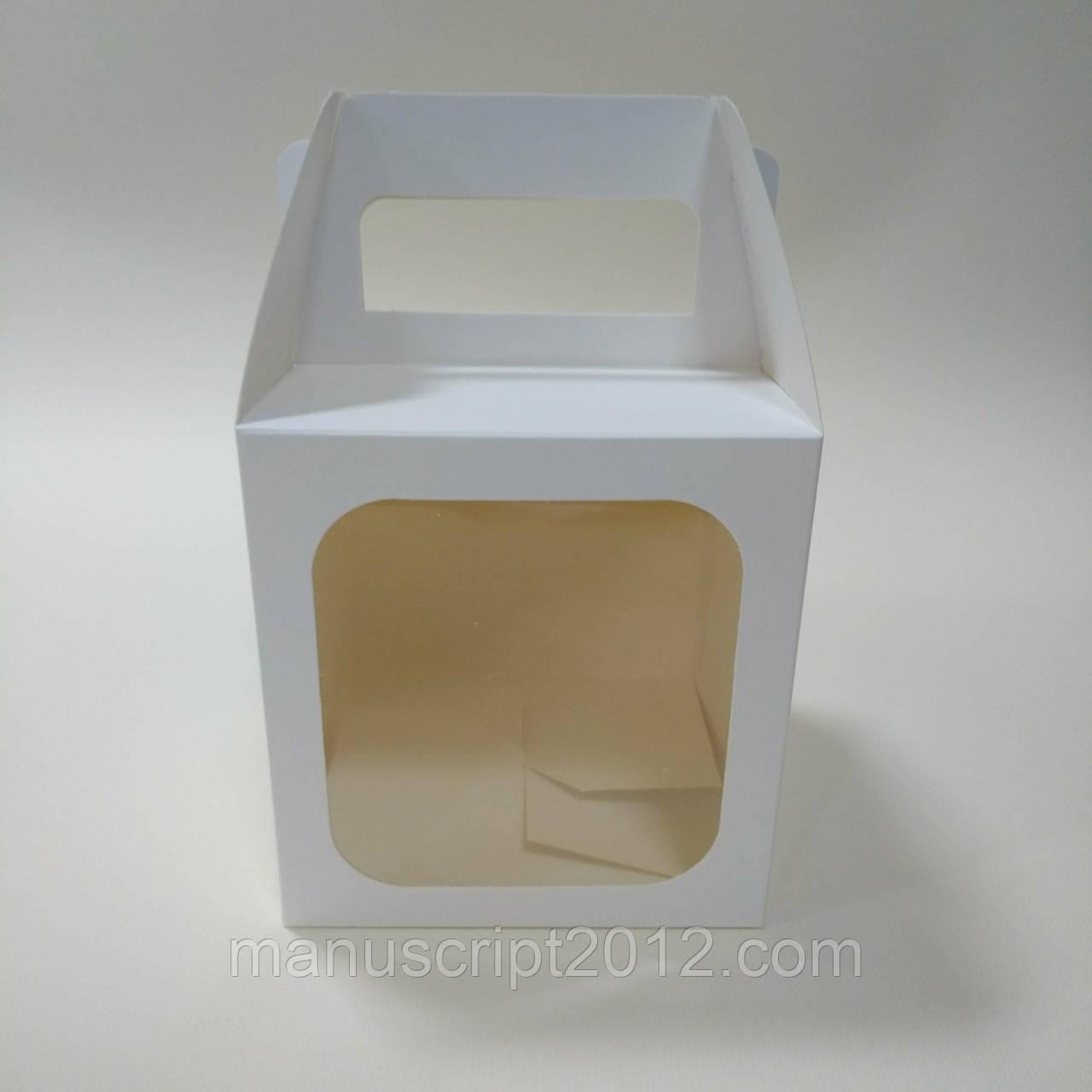 Коробка для кулича, пряничного домика, подарка, чашки 130х130х140 мм