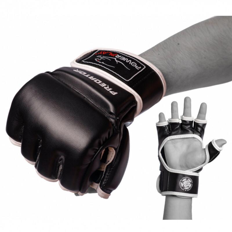 Перчатки для MMA PowerPlay / 3056 / M Black